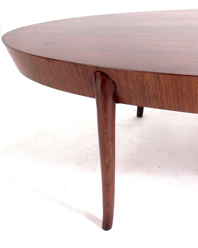 Elegant Oval Coffee Table By T H Robsjohn Gibbings For Sale At 1stdibs