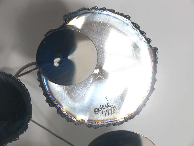"""Late 20th Century Large Chrome """"Raindrops"""" Wall Sculpture by C. Jere For Sale"""