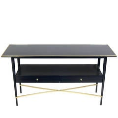 Clean Lined Modernist Console Table by Paul McCobb