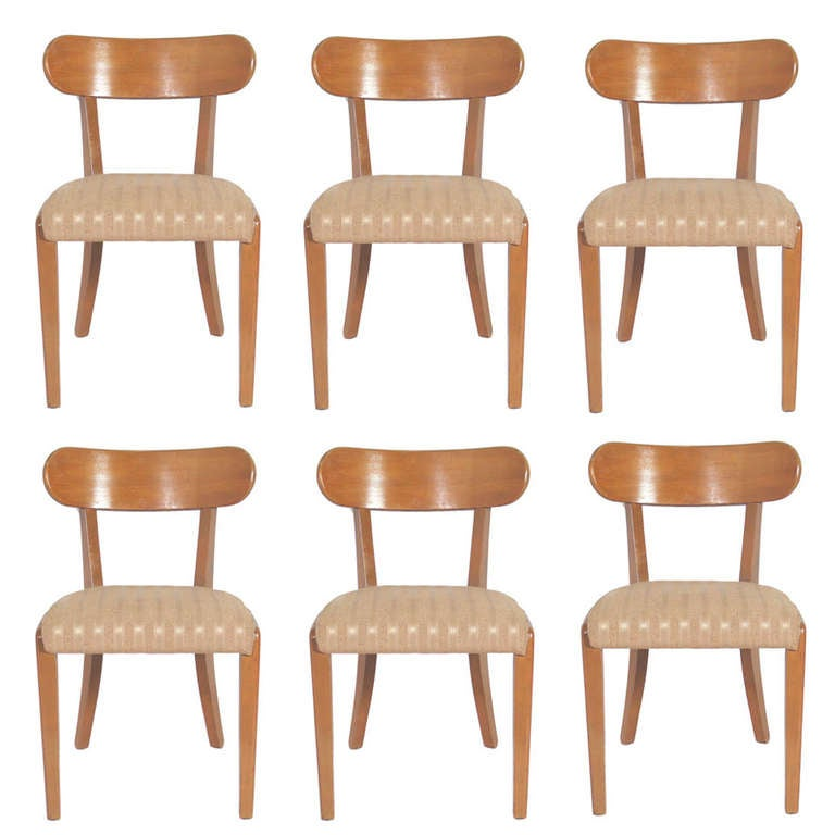 Set of Six Dining Chairs Designed by Edward Wormley for Drexel