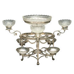 George III Sterling Silver Epergne by Thomas Pitts, London, 1786