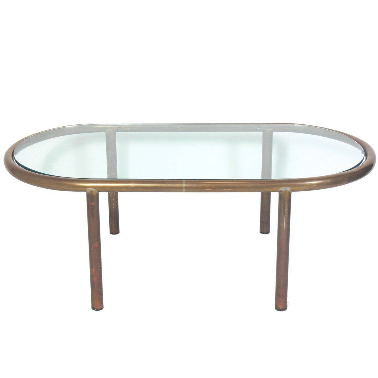 Oval Brass Coffee Table At 1stdibs