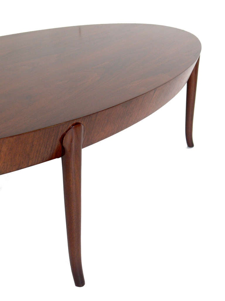 Elegant Oval Coffee Table By T H Robsjohn Gibbings At 1stdibs