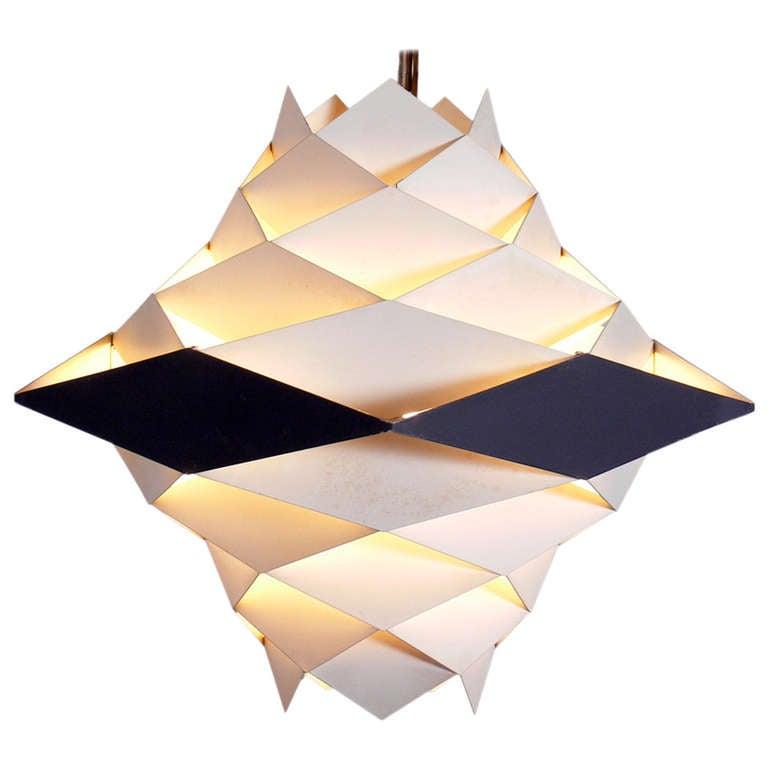 "Sculptural Modern ""Symphony"" Chandelier or Pendant Light by Preben Dahl"