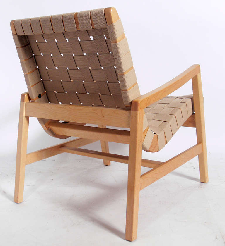 Charmant Mid Century Modern Modern Woven Lounge Chair And Stool By Jens Risom For  Knoll For