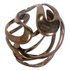 Abstract Bronze Sculpture by Tom Bennett
