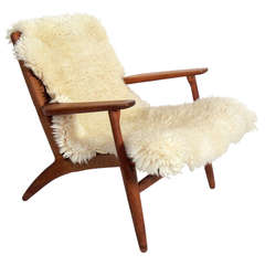 Hans Wegner Danish Modern Lounge Chair