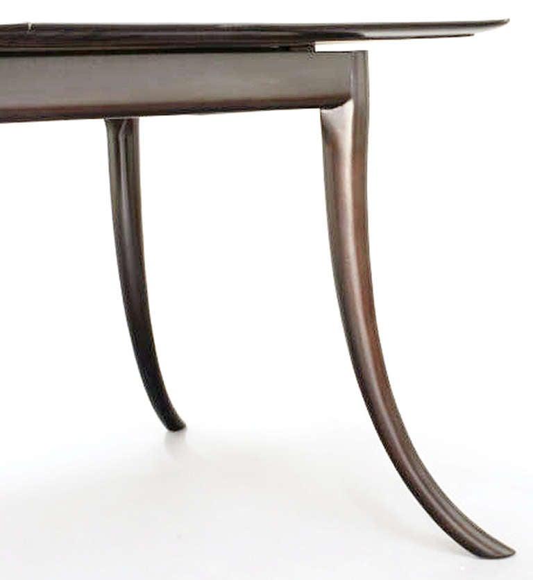Klismos Leg Dining Table by T H Robsjohn Gibbings For  : dininggibbysaberleg3l from www.1stdibs.com size 768 x 836 jpeg 26kB