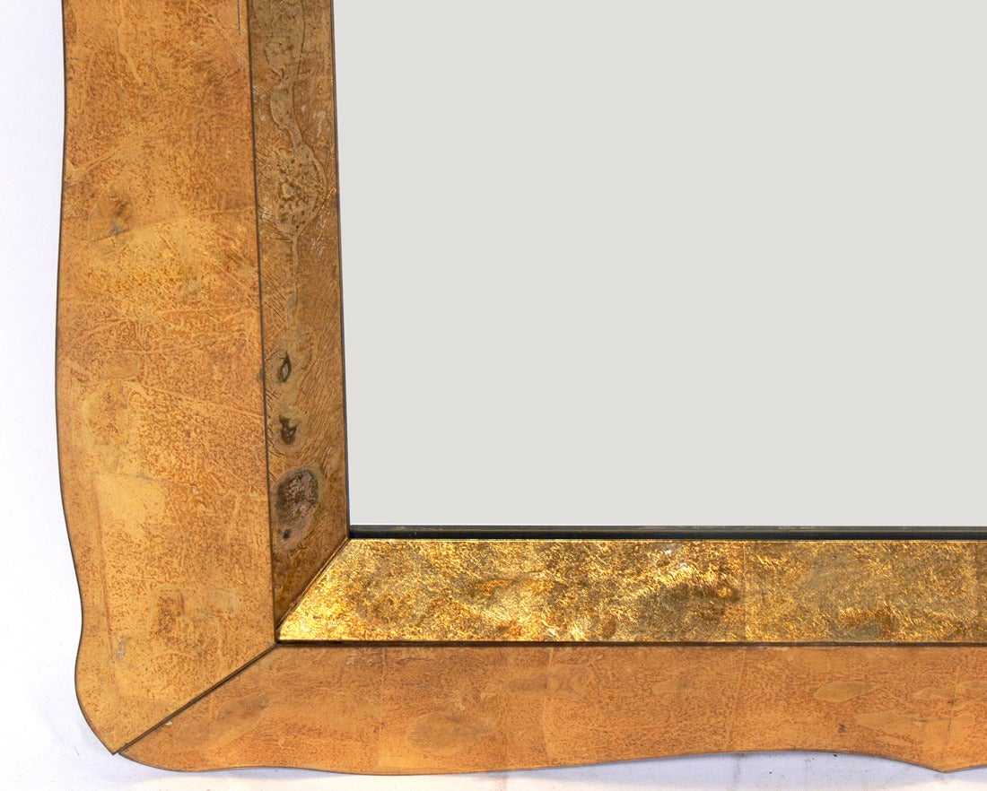 Large Scale Gold Leaf 201 Glomis 233 Mirror At 1stdibs