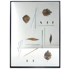 Etched Mirror Attributed to Duilio Bernabé for Fontana Arte