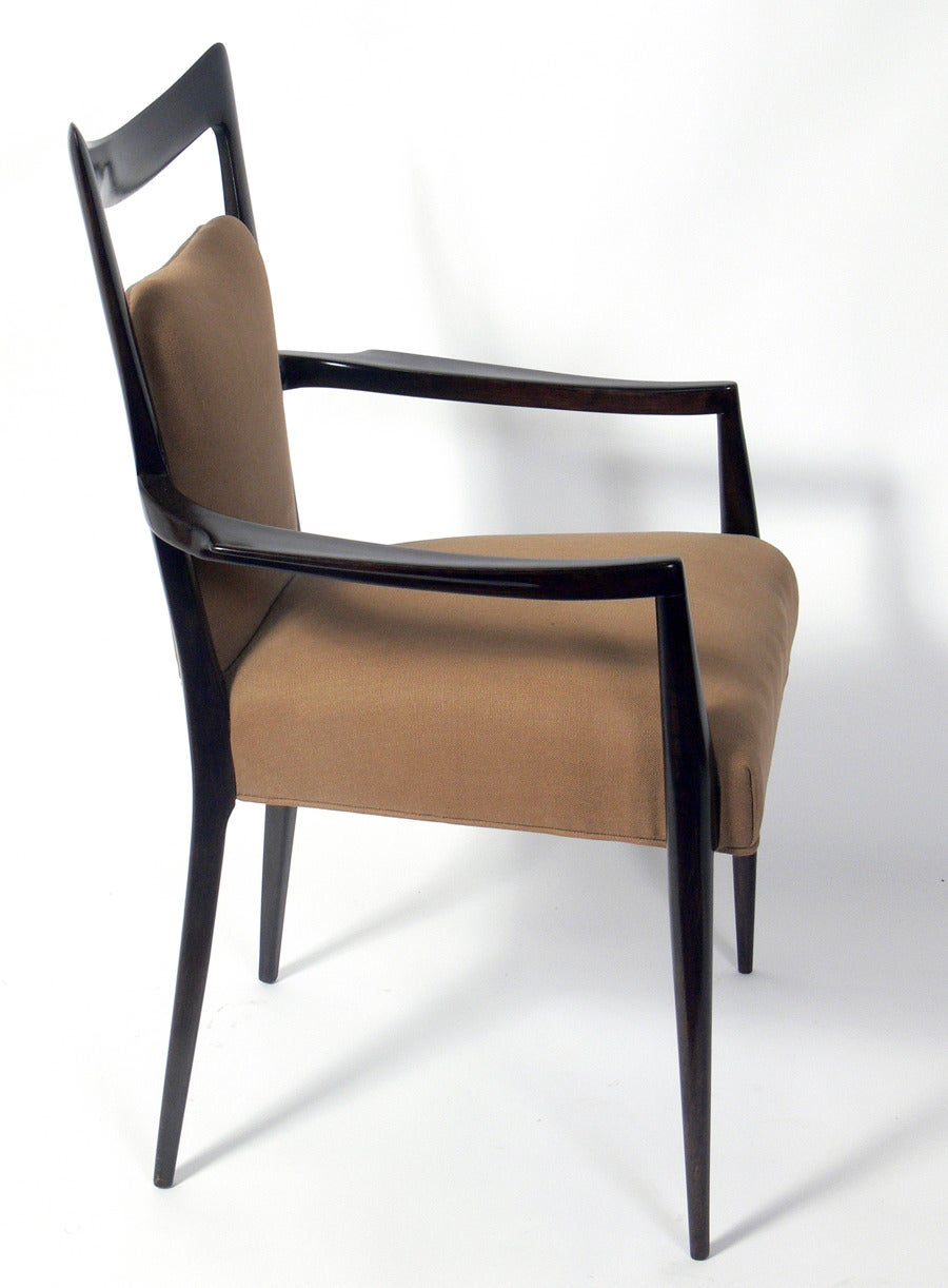 Italian modern dining chairs designed by melchiorre bega for Italian dining chairs modern