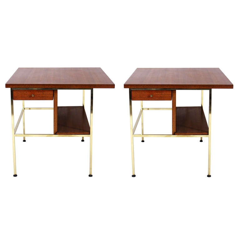 Pair of Modernist Nightstands or End Tables by Paul McCobb 1