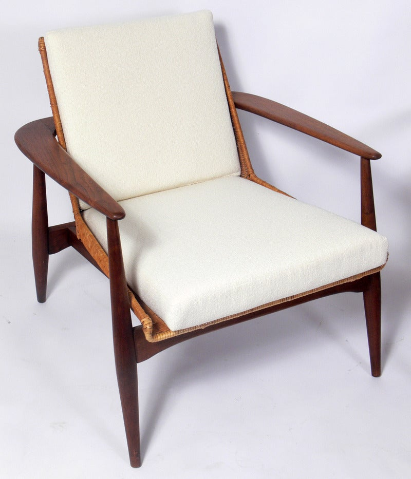 Pair of danish modern lounge chairs by lawrence peabody at for Danish modern chairs