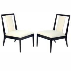 Pair of Petite Modern Slipper Chairs