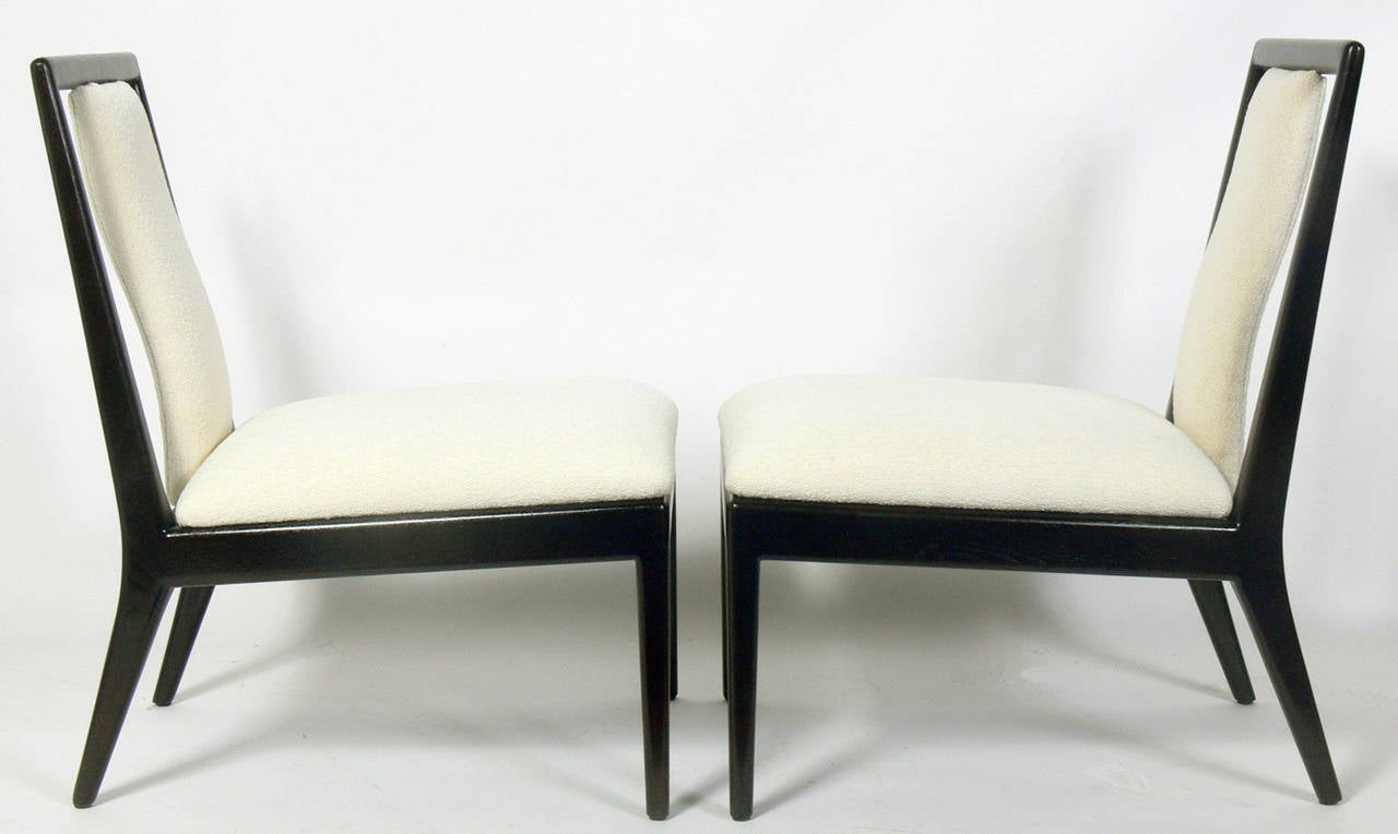 pair of modern slipper chairs for sale at 1stdibs