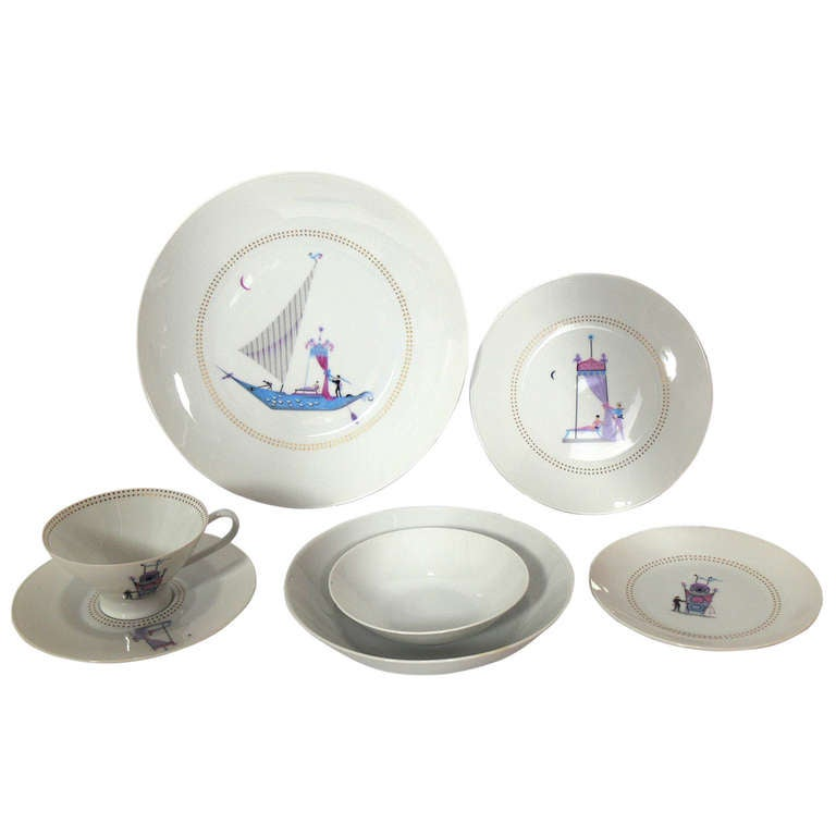 "Rosenthal ""Venetian"" China Set Designed by Raymond Loewy"