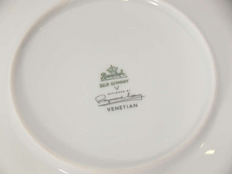 "Rosenthal ""Venetian"" China Set Designed by Raymond Loewy image 5"