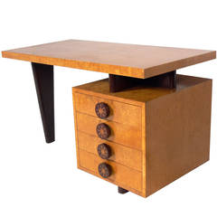 Custom Modernist Desk by Andrew Szoeke