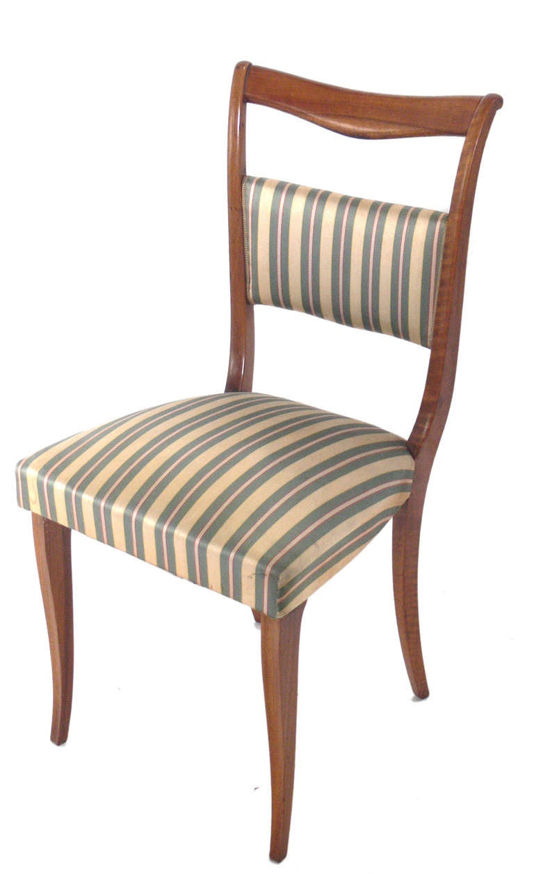 set of six italian dining chairs at 1stdibs