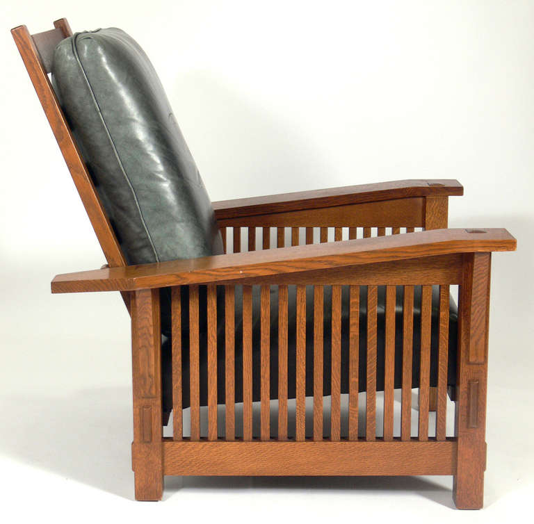 Incroyable Stickley Mission Oak Morris Lounge Chair, American, Circa 1990u0027s.  Originally Designed In 1915