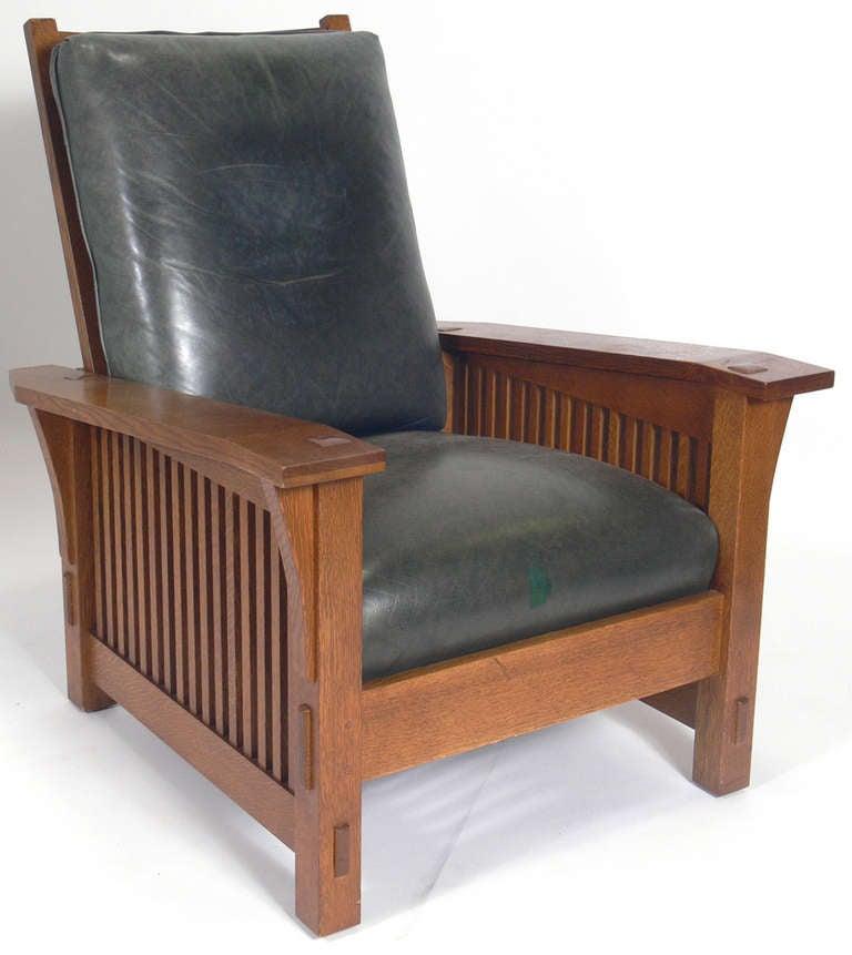 Stickley Mission Oak Morris Chair At 1stdibs