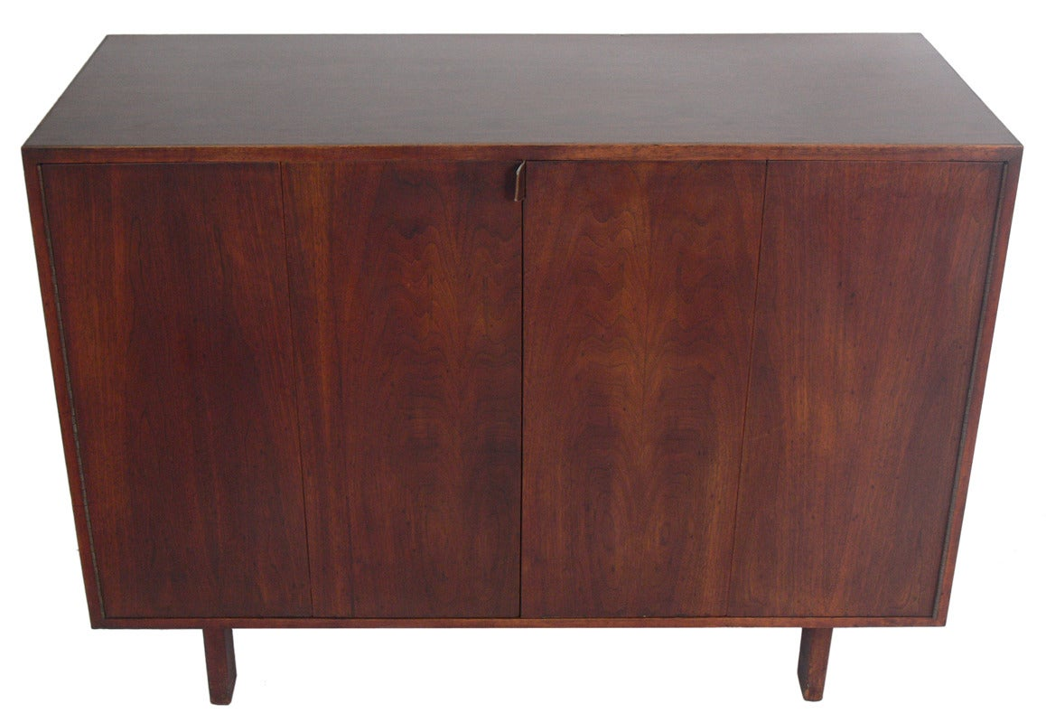 Custom Mid Century Walnut Credenza By Creative Woodwork Co