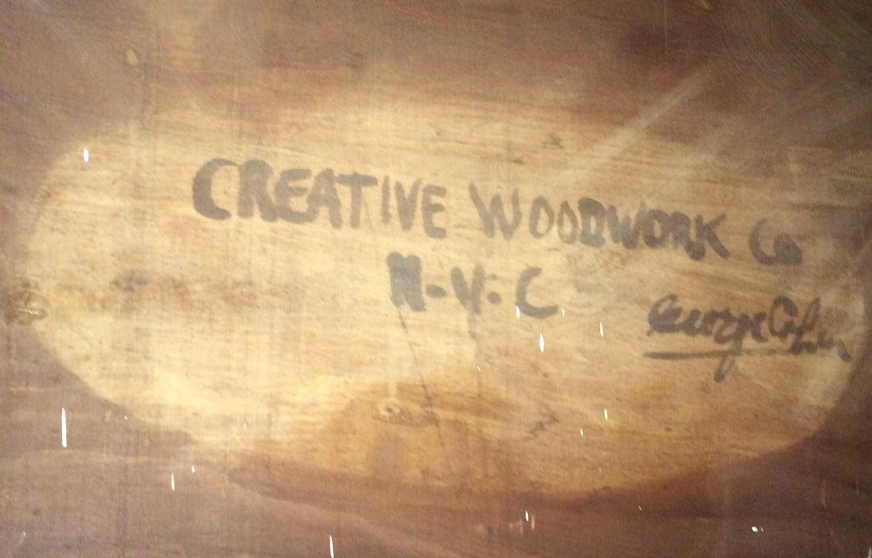 Mid-20th Century Custom Mid Century Walnut Credenza by Creative Woodwork Co., NYC