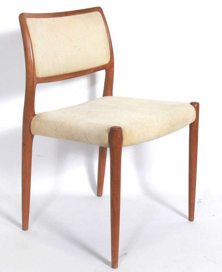 set of six danish modern dining chairs by neils otto moller at 1stdibs