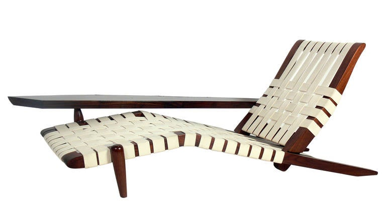 Chaise Lounge in the manner of George Nakashima 2