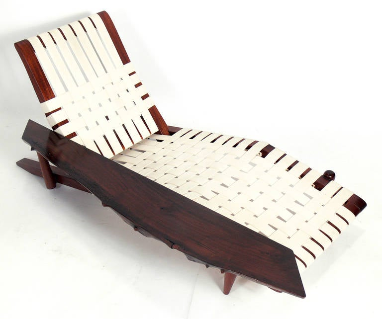Chaise Lounge in the manner of George Nakashima 3