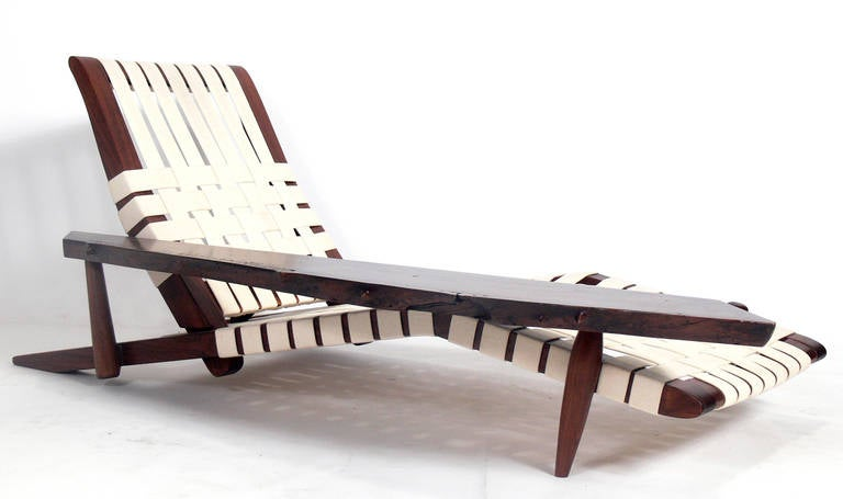 Chaise Lounge in the manner of George Nakashima 4