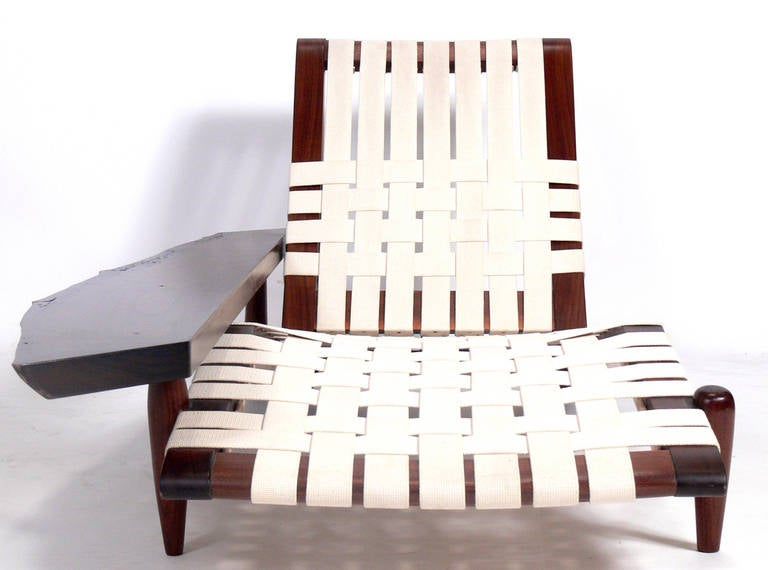 Chaise Lounge in the manner of George Nakashima 5