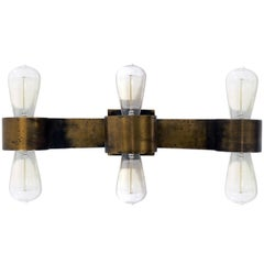 Bronze Three-Arm Sconce