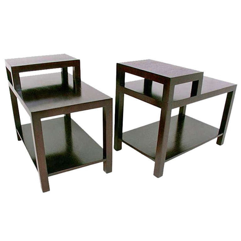 Pair of Stepped Lamp Tables by T.H. Robsjohn Gibbings