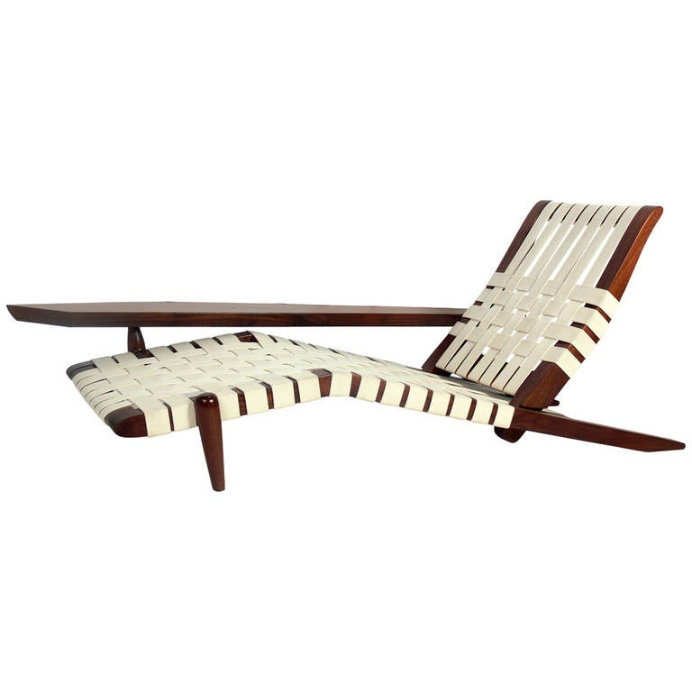 Chaise Lounge in the manner of George Nakashima 1