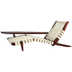 Chaise Lounge in the manner of George Nakashima
