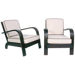 Pair of Streamlined Lounge Chairs by Russel Wright
