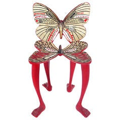 Butterfly Chair Sculpture by Pedro Friedeberg