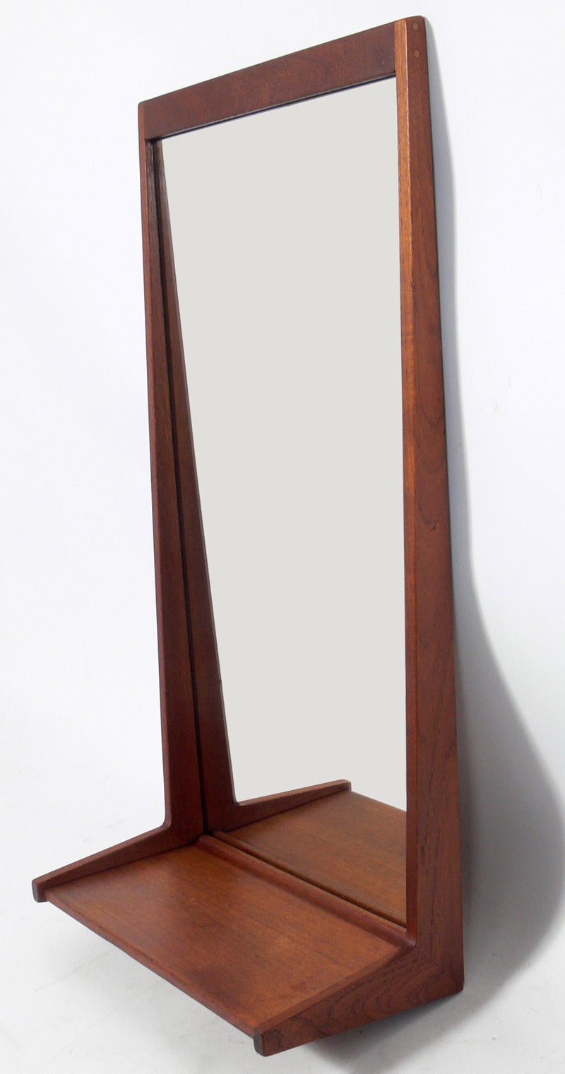 Danish modern console table mirror by aksel kjersgaard at - Modern console table with mirror ...