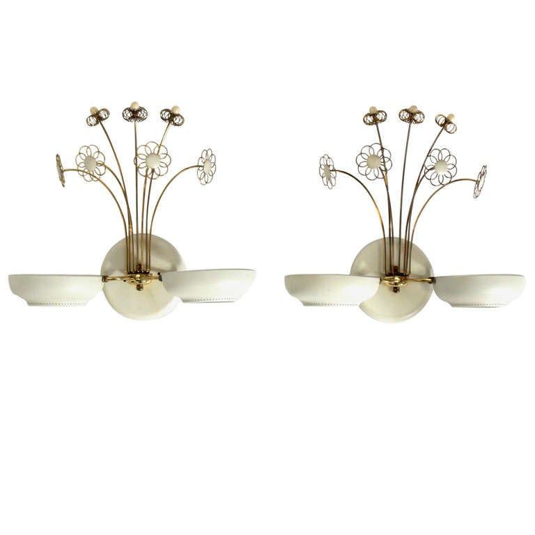 Pair of Elegant Sconces in the manner of Paavo Tynell