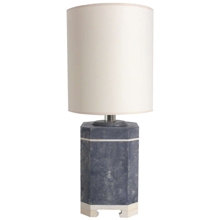 Shagreen Lamp in the manner of Karl Springer