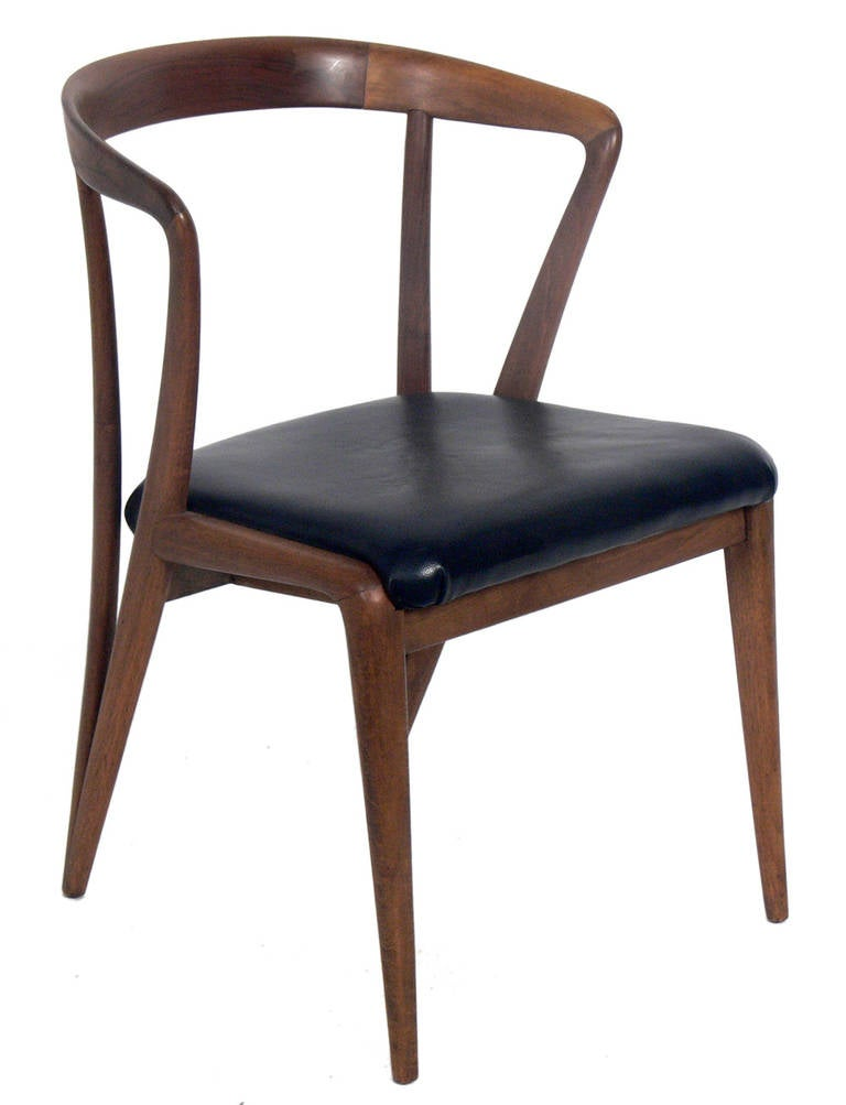 set of six dining chairs designed by bertha schaefer for  best upholstery fabric for dining room chairs