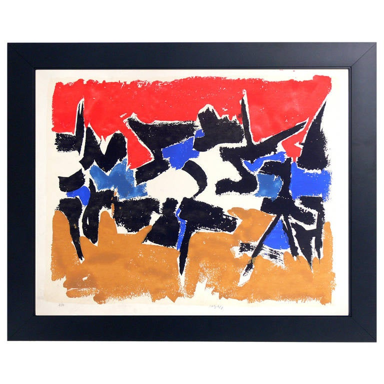 Vibrant Abstract Color Lithograph #3 by Angelo Savelli