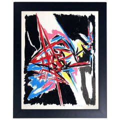 Vibrant Abstract Color Lithograph #1 by Angelo Savelli
