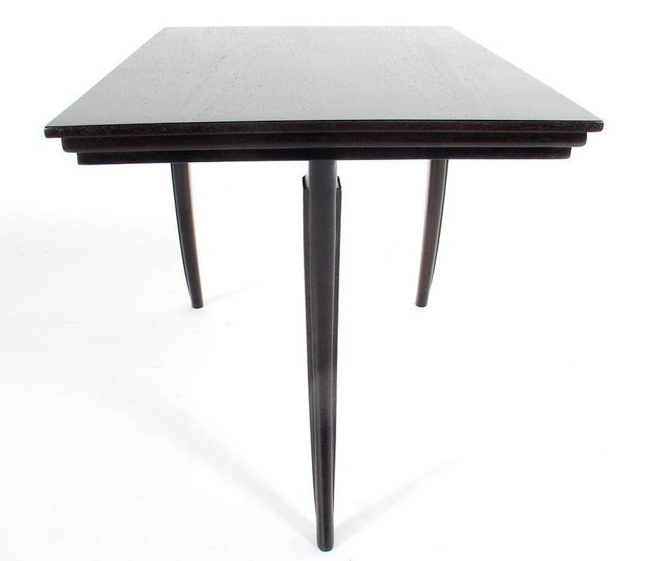 American Pair of Elegant Klismos Leg Tables For Sale