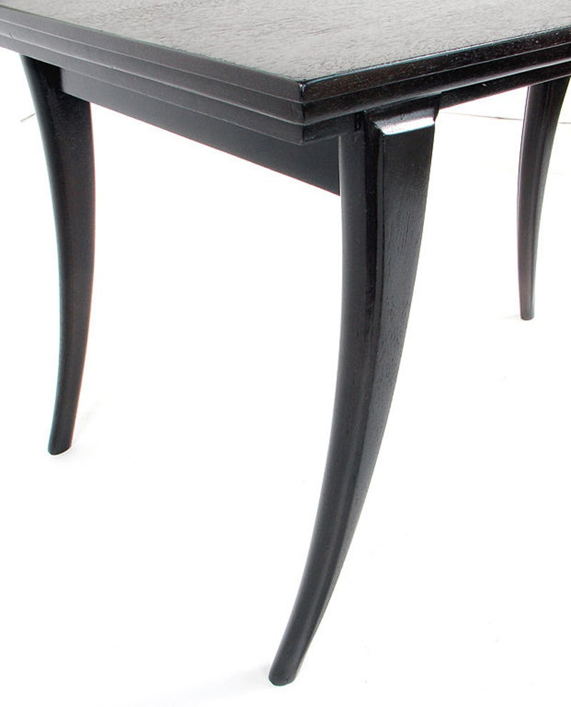 Lacquered Pair of Elegant Klismos Leg Tables For Sale