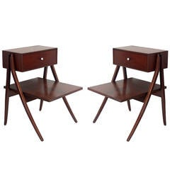 Pair of Night Stands or End Tables Designed by Kipp Stewart