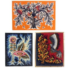Group of Vibrant French Modernist Tapestries
