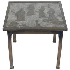 Bronze Side Table by Philip and Kelvin LaVerne