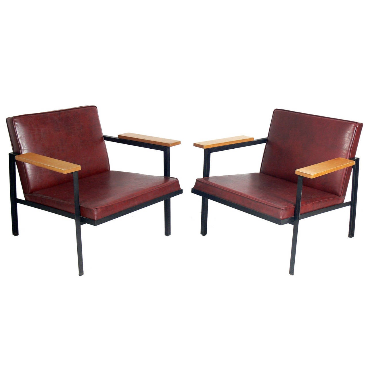 Pair of Modern Lounge Chairs Designed by George Nelson